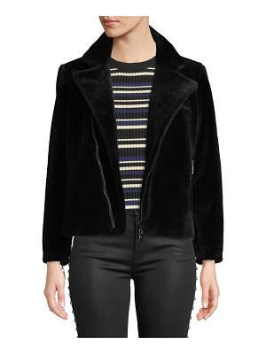 Belle Fare Lightweight Sheep Fur Bomber Jacket