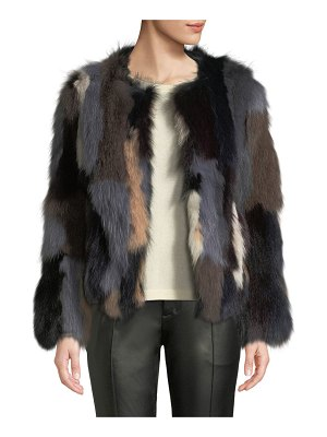 Belle Fare Multicolor Fox Fur Jacket