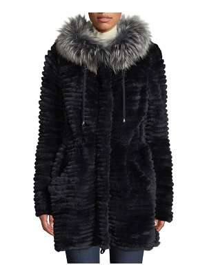 Belle Fare Reversible Knit & Fur Jacket w/ Trim
