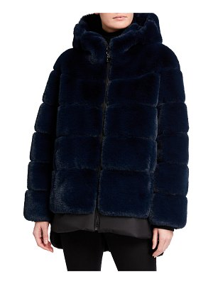 Belle Fare The Kaltag Faux-Fur Hooded Coat