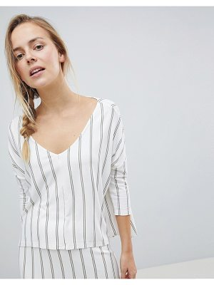 Bellfield Valeri Pinstripe High Low Top