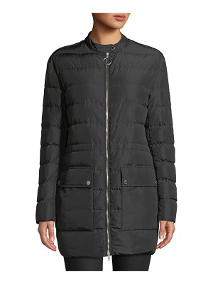 Belstaff Adwick Channel-Quilted Long Coat