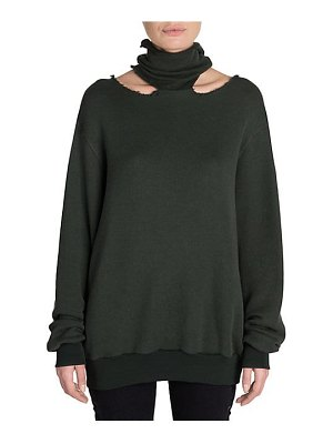 Ben Taverniti Unravel Project cashmere mockneck cutout sweater