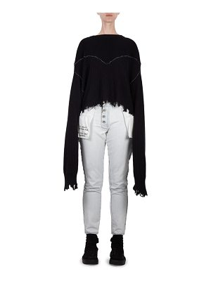Ben Taverniti Unravel Project cropped sweater