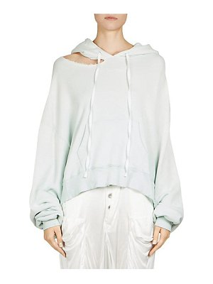 Ben Taverniti Unravel Project cut chopped terry hoodie