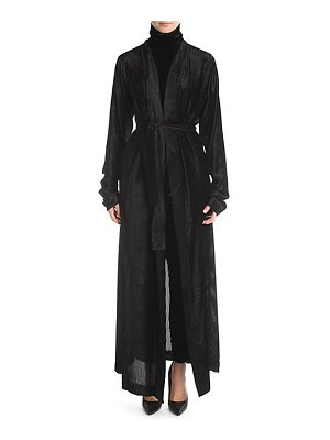 Ben Taverniti Unravel Project devor velvet stripe silk robe coat