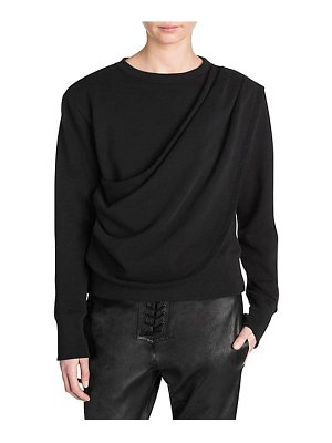Ben Taverniti Unravel Project draped terry long sleeve tee