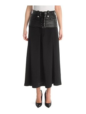 Ben Taverniti Unravel Project lace-up corset skirt