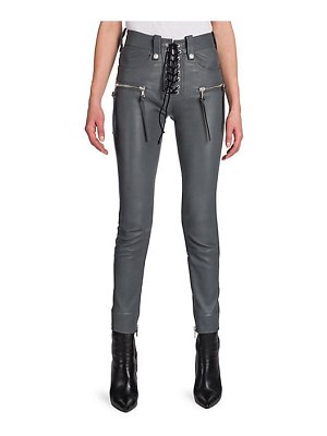 Ben Taverniti Unravel Project lace-up leather jeans