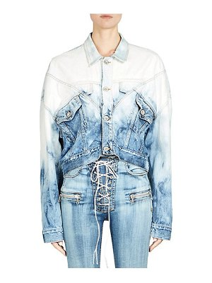 Ben Taverniti Unravel Project lines hybrid cropped denim jacket