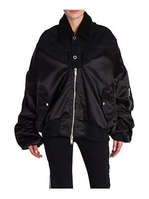 Ben Taverniti Unravel Project shearling hybrid bomber jacket