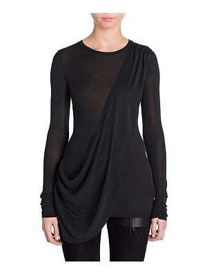 Ben Taverniti Unravel Project silk jersey draped t-shirt