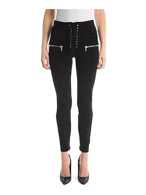 Ben Taverniti Unravel Project suede skinny lace-up pants