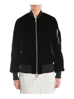 Ben Taverniti Unravel Project velvet bomber jacket