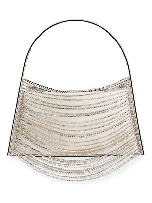 Benedetta Bruzziches Lucia In The Sky Crystal-Chain Top Handle Bag