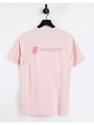 Berghaus heritage front and back logo t-shirt in pink