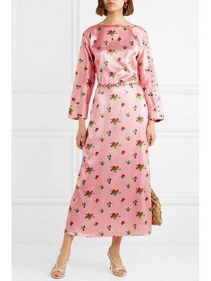 BERNADETTE dakota floral-print stretch-silk satin maxi dress