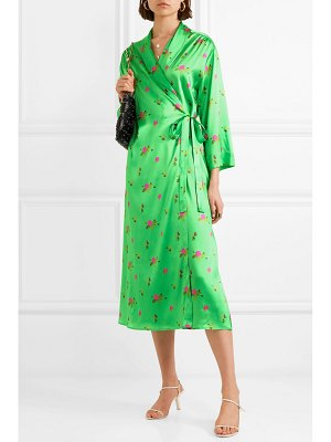 BERNADETTE elle floral-print stretch-silk satin wrap dress