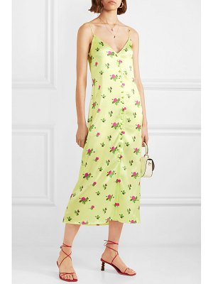 BERNADETTE hailey floral-print stretch-silk satin midi dress
