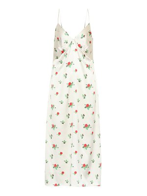BERNADETTE june floral silk-satin slip dress