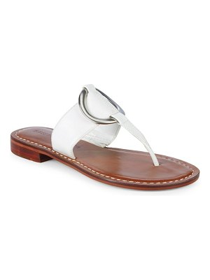 Bernardo Metal Circle Leather Sandals