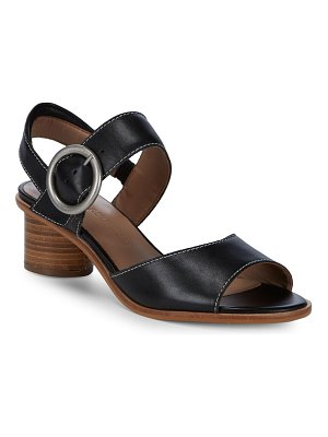 Bernardo Stacked Heel Leather Sandals