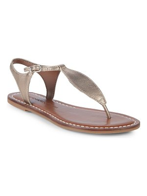 Bernardo T-Strap Leather Sandals