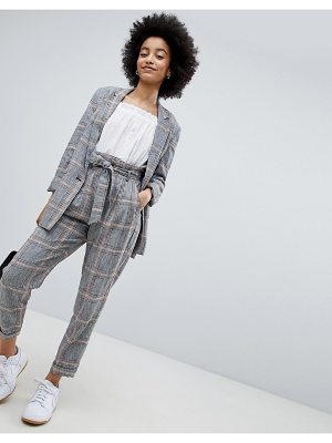 Bershka Check Peg Leg PANTS