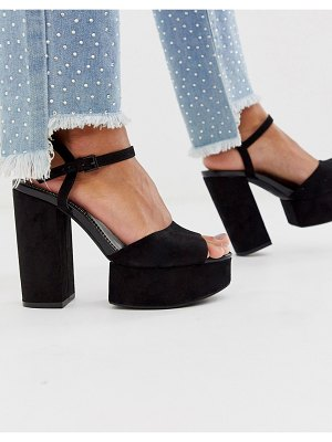 Bershka chunky platform sandals in black