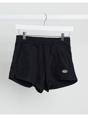 Bershka jersey runner short in black