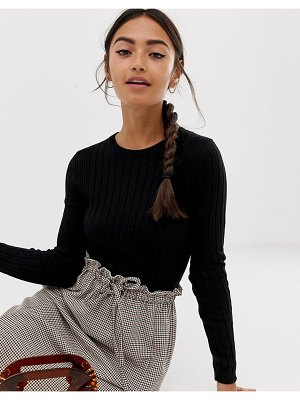Bershka lightweight wide rib sweater