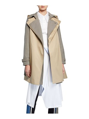 BESFXXK Checkered Double-Layered Trench Coat