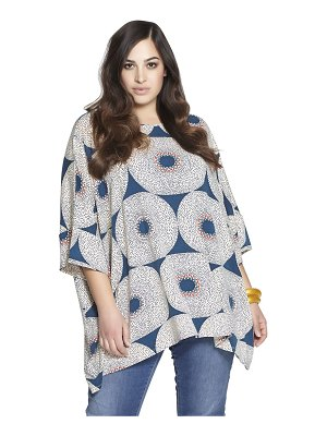 BETH DITTO Printed stretch rayon tunic top