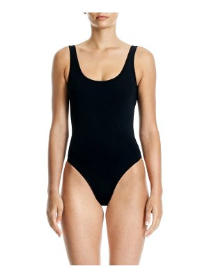 Beth Richards tie one-piece swimsuit