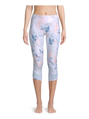 Betsey Johnson Floral-Print Cropped Leggings