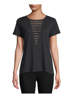 Betsey Johnson Performance Burnout Cutout Top