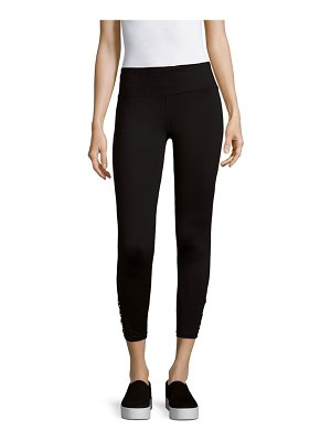 Betsey Johnson Performance Crisscross Mesh Leggings