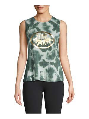 Betsey Johnson Performance Dyed Graphic Tank Top