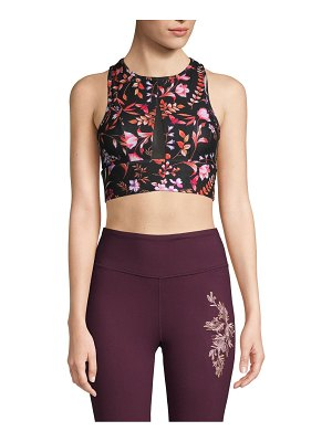 Betsey Johnson Performance Floral-Print Sports Bra