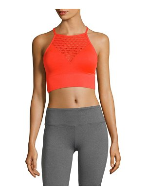 Betsey Johnson Performance Knitted Laser-Cut Sports Bra