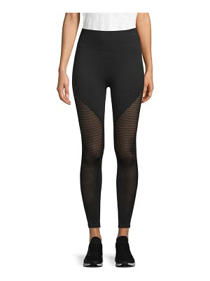 Betsey Johnson Performance Mesh-Accented Active Leggings