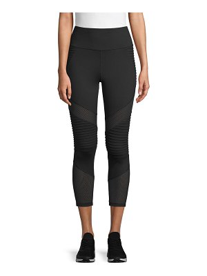Betsey Johnson Performance Mesh Cropped Pocket Leggings