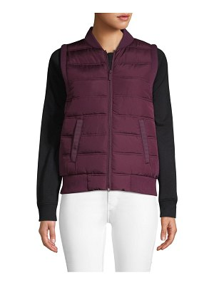 Betsey Johnson Performance Quilted Full-Zip Vest