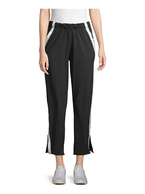 Betsey Johnson Performance Side-Striped Sweatpants