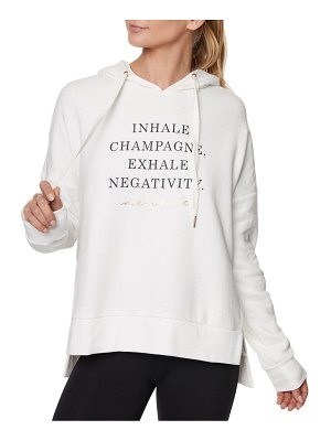 Betsey Johnson Performance Slogan Pullover Hoodie