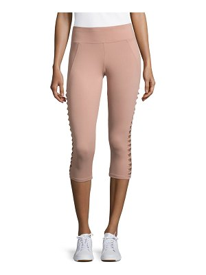 Betsey Johnson Performance Solid Cropped Leggings