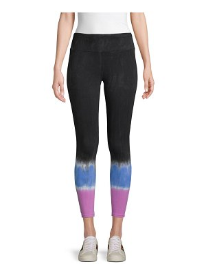 Betsey Johnson Performance Striped Tie-Dye Leggings