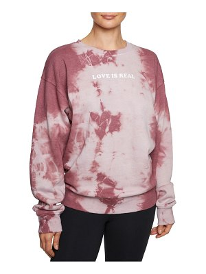 Betsey Johnson Performance Tie-Dyed Cotton-Blend Sweatshirt