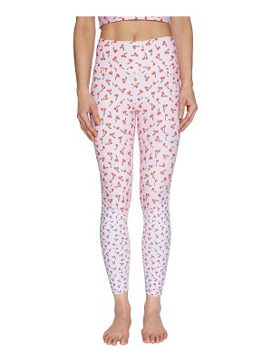 Betsey Johnson Performance Cherry Print Leggings