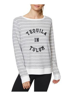 Betsey Johnson Performance Printed Striped Pullover